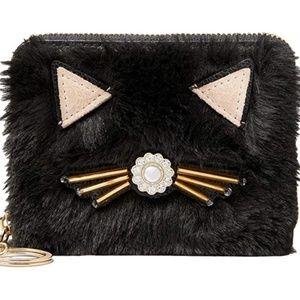 Kate Spade Brighton Lane Dani Black Cat Wallet